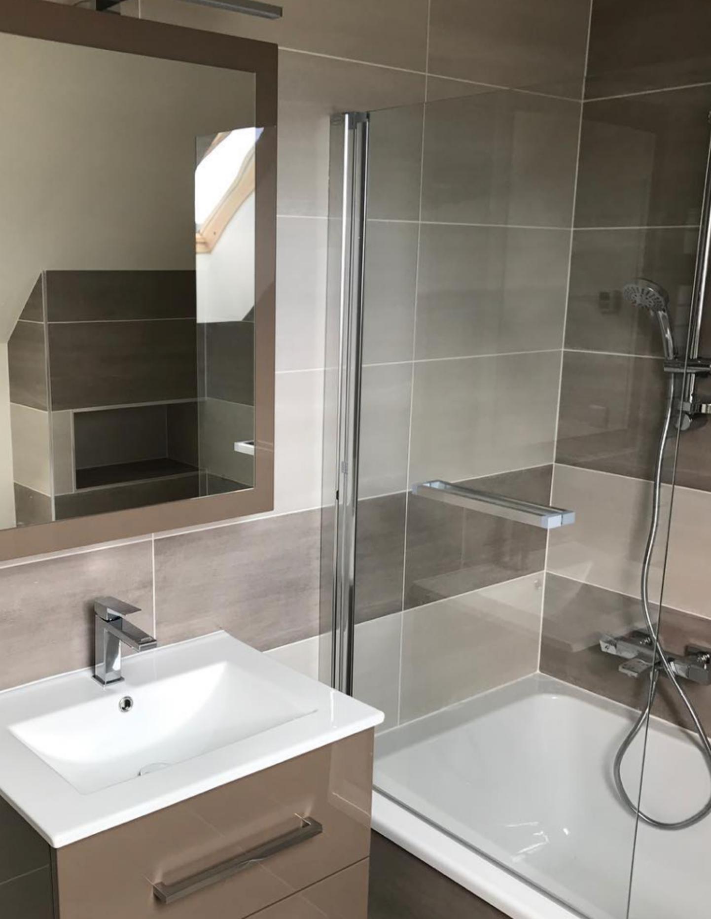 Salle de bain Marron en Essonne 91